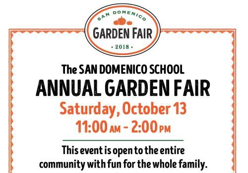 The San Domenico School Annual Garden Fair 2018