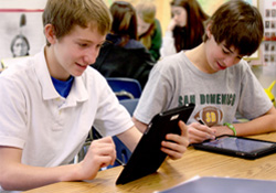 "San Domenico School's innovative ""1-to-1"" iPad program in grades 3-12"