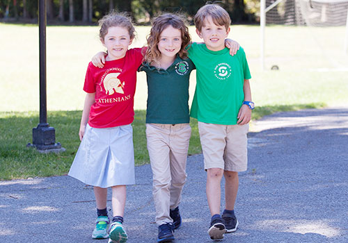 Lower School Students Walking to Class