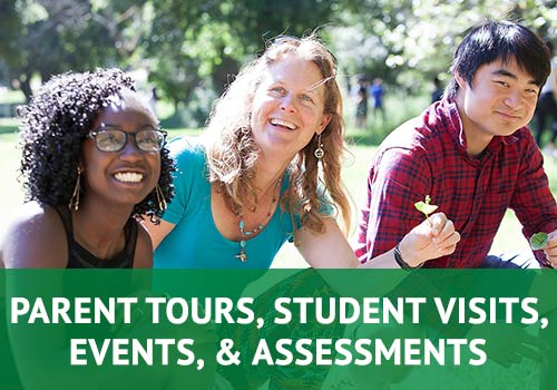 Admission Events, Parent Tours, & Student Visits