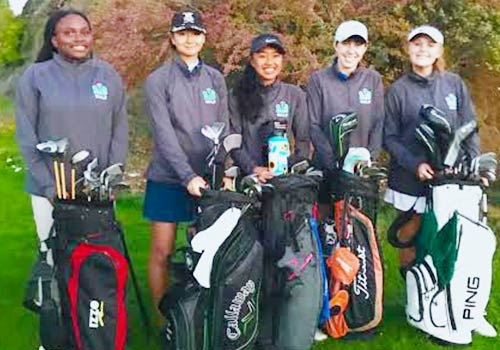 Our Varsity Women's Golf team on an undefeated, 9-0 regular season, and securing the title of BCL-West Champions!