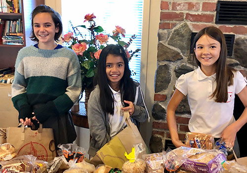 Fifth Graders Bring Good Cheer to Fireside