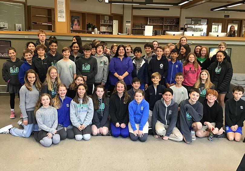 Garcia McCall Visits Middle School