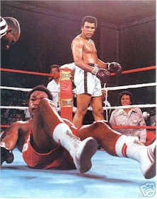 Muhammed Ali wins the heavyweight crown from George Foreman