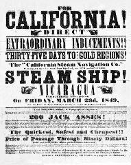 California Gold Rush Era handbill