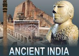 Photo montange of ancient India sites and statues