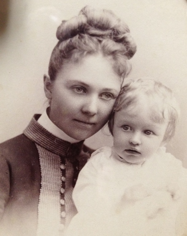 Louise in 1888 with her mother, Louise Cook Arner