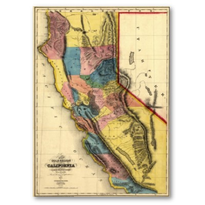 Map of California in 1851