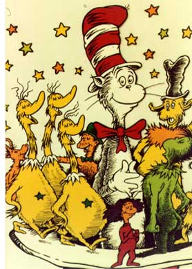Dr. Seuss characters including the Cat in the Hat