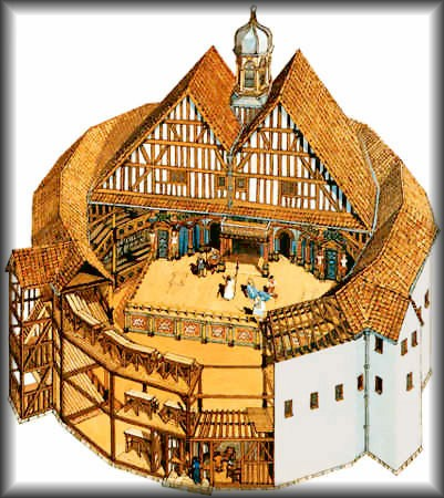 Drawing Of The Interior Original Globe Theatre