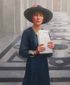 Painting of U.S. Representative Jeannette Rankin