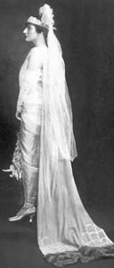 Louise dressed before being presented at the Court of St. James, 1925