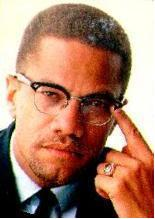 Color photo of Malcolm X