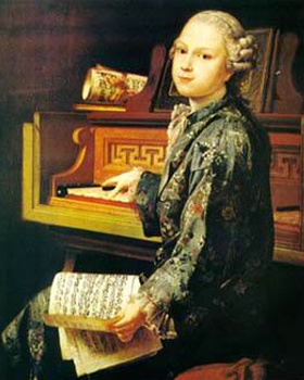 Portrait of Wolfgang Amadeus Mozart as a child