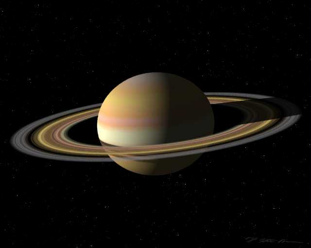 Simulation of the planet Saturn
