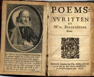 Image of Shakespeare Poetry Book