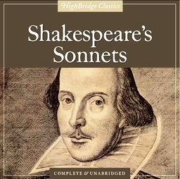 Image of a Shakespeare Sonnet book cover with portrait of the Bard